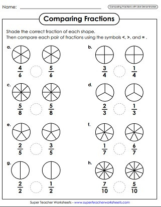 Ordering Fractions Worksheet 4th Grade Paring & ordering Fractions Worksheets