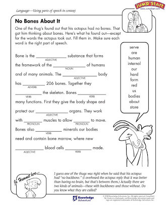 Parts Of Speech Printable Worksheets Parts Of Speech Free Worksheets 5th Grade
