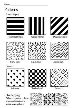Pattern Worksheets 4th Grade Texture Worksheet Google Search