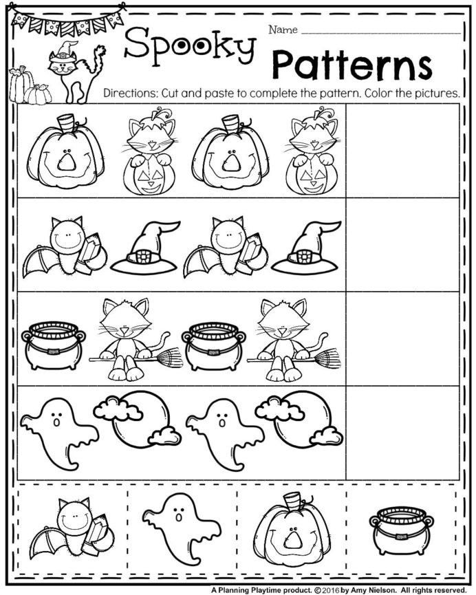 Pattern Worksheets 4th Grade Worksheet October Preschool Worksheets Pattern Worksheet