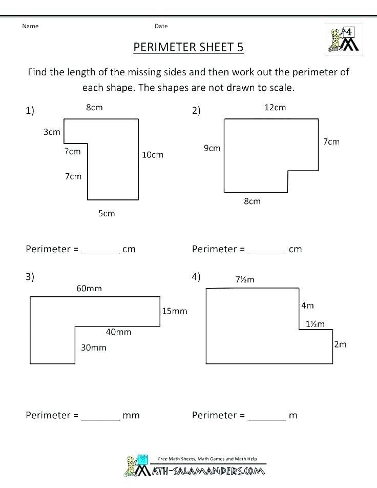 Perimeter Worksheet for 3rd Grade 31 Perimeter 3rd Grade Worksheets In 2020