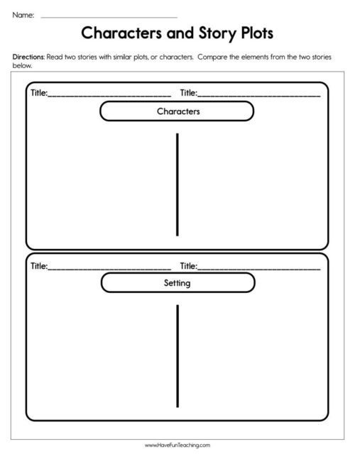 Plot Worksheets 2nd Grade Plot Worksheets • Have Fun Teaching