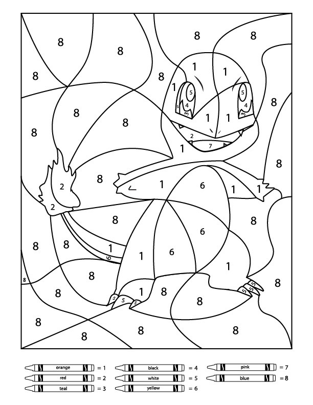 Pokemon Math Worksheets 3 Free Pokemon Color by Number Printable Worksheets