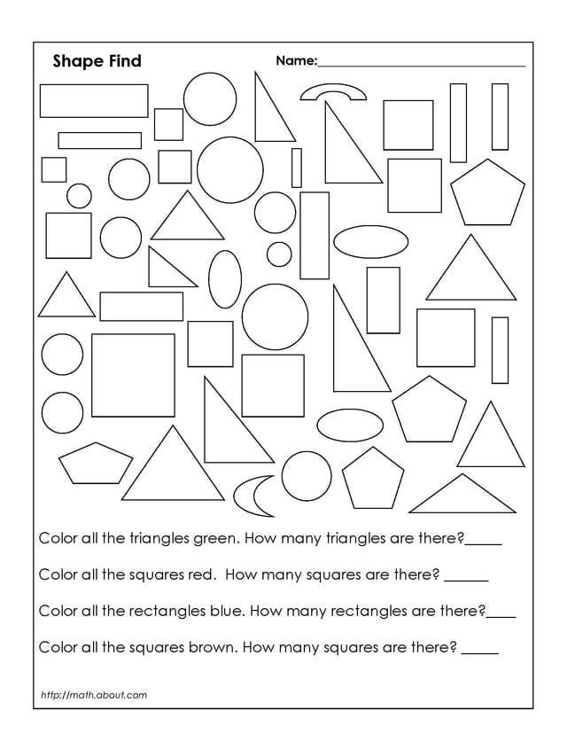 Polygon Worksheets 2nd Grade 1st Grade Geometry Worksheets Basic Mathematics Coloring