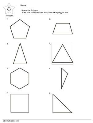 Polygon Worksheets 2nd Grade 2nd Grade Math Teach the Kids Polygons with these Nifty
