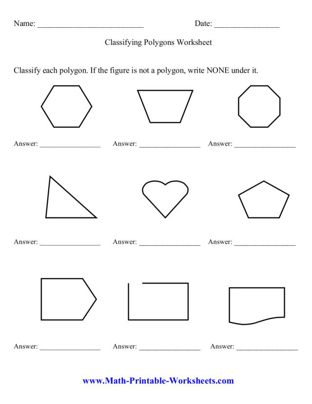 Polygon Worksheets 3rd Grade Classifying Polygons Worksheet Worksheet for 3rd 6th Grade