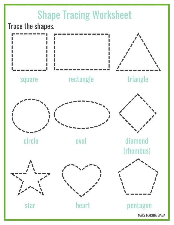 Polygon Worksheets 5th Grade Shapes Worksheets for Preschool Free Printables Shape