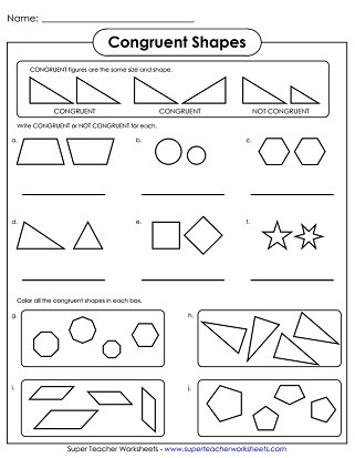 Polygons Worksheets 5th Grade Geometry Worksheets Congruent and Similar Shapes