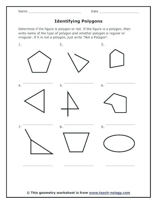 Polygons Worksheets 5th Grade Polygon Worksheets Polygon Worksheets Polygons Irregular