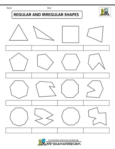 Polygons Worksheets 5th Grade Printable Shapes Regular and Irregular Shapes Bw Nolab