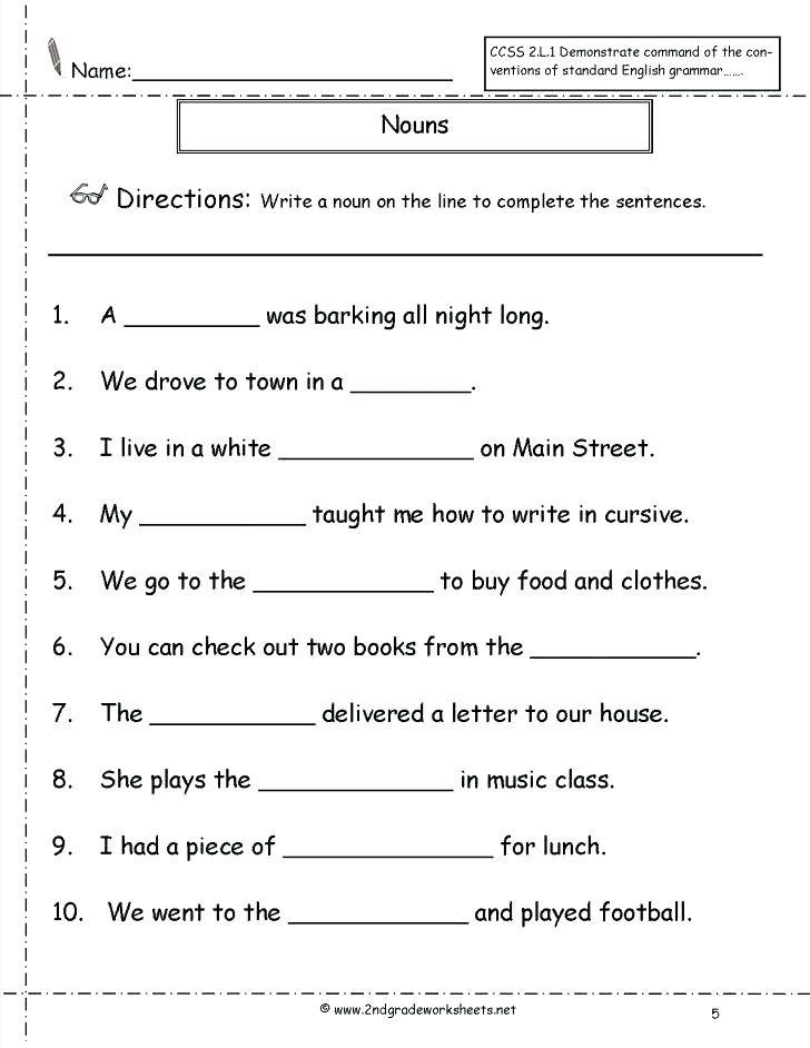 Possessive Pronoun Worksheet 3rd Grade Noun Worksheets 3rd Grade Plural Nouns Worksheet Free