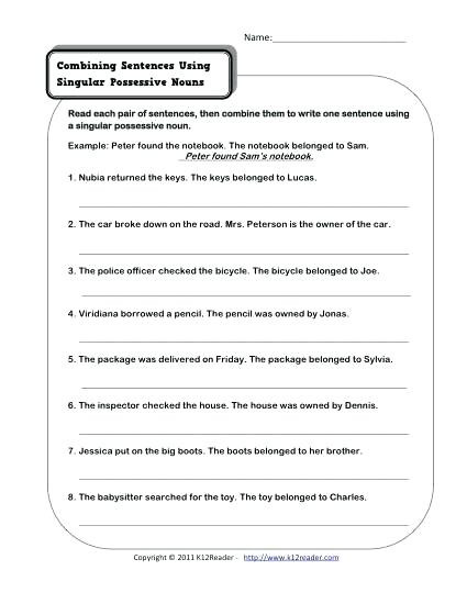 Possessive Pronouns Worksheet 5th Grade Possessive Nouns Worksheets Grade 4 – Keepyourheadup