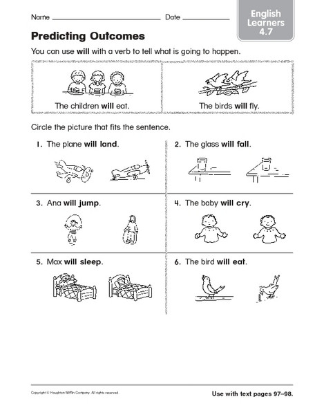 Predictions Worksheets 1st Grade Predicting Out Es Math Lesson Plans & Worksheets