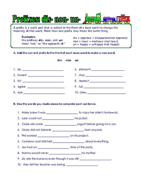 Prefixes Worksheet 3rd Grade Prefix Suffix and Root Word Worksheets Worksheet for 3rd