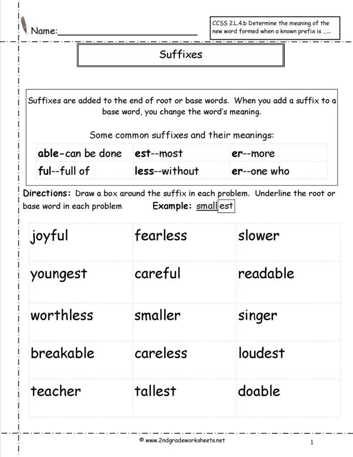 Prefixes Worksheet 3rd Grade Second Grade Prefixes Worksheets Suffix 2nd Best Place to