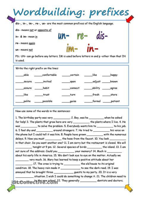 Prefixes Worksheets 3rd Grade Wordbuilding Prefixes with Key