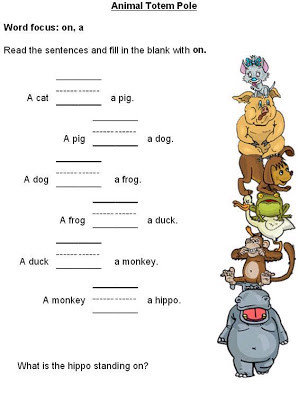 Preposition Worksheets for Grade 1 Free Printable Preposition Worksheets for Preschoolers