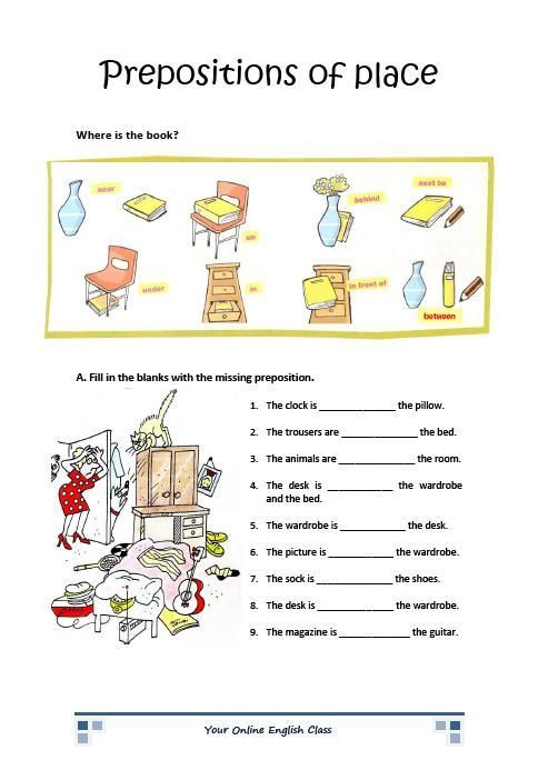 Preposition Worksheets for Grade 1 Image Result for Preposition Of Place Worksheet for Grade 1