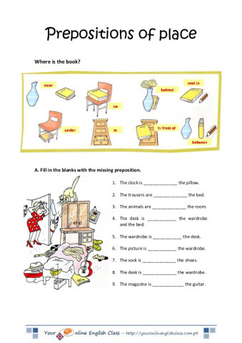 Preposition Worksheets for Grade 1 Preposition Worksheet for Grade 1 with Answer لم يسبق له