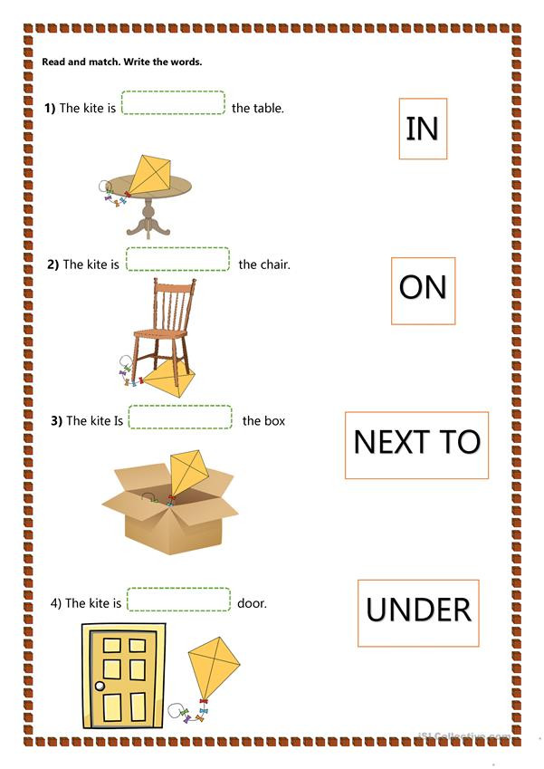 Preposition Worksheets for Grade 1 Prepositions Of Place Kids English Esl Worksheets for