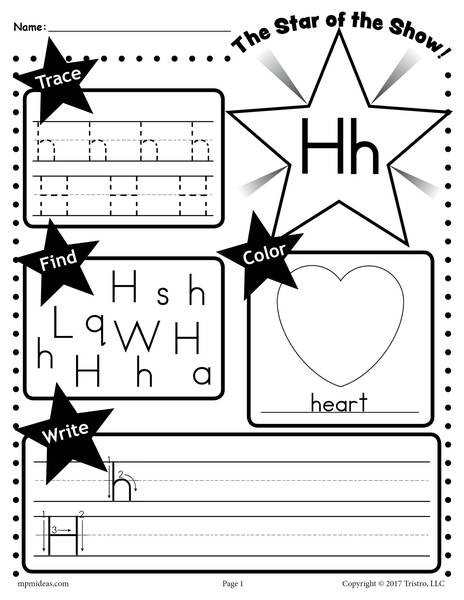 Preschool Letter H Worksheets Letter H Worksheet Tracing Coloring Writing & More