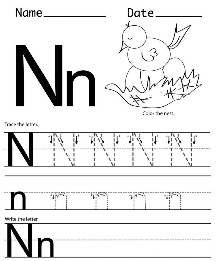 Preschool Letter N Worksheets Letter N Worksheets
