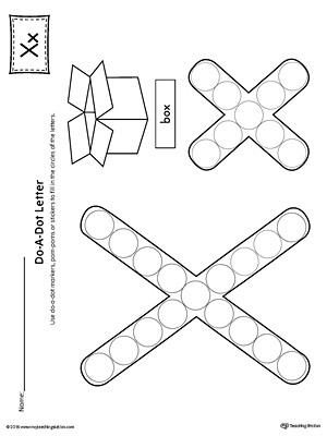 Preschool Letter X Worksheets Letter X Do A Dot Worksheet
