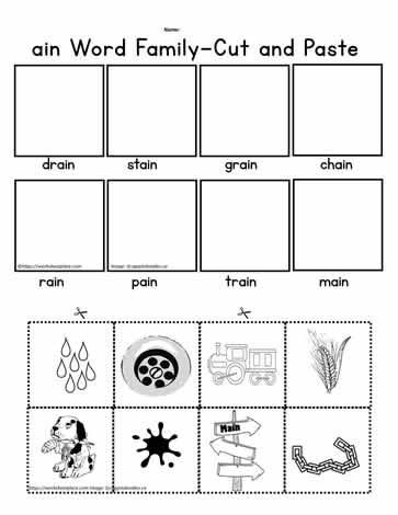 Printable Cut and Paste Worksheets Ain Cut and Paste Worksheets