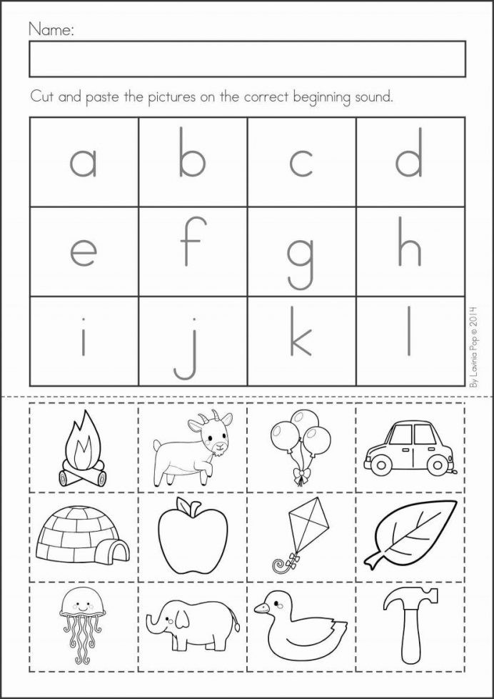 Printable Cut and Paste Worksheets Cut and Paste Printable Letter Worksheet Color Crafts
