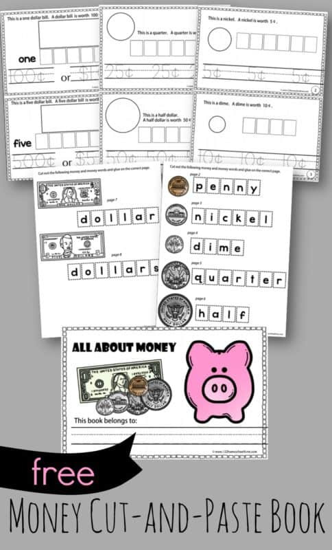 Printable Cut and Paste Worksheets Free Cut and Paste Money Worksheets