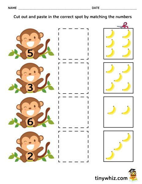 Printable Cut and Paste Worksheets Pin Em Free Printable School Worksheets for Kids