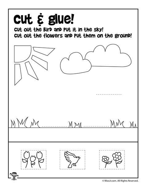 Printable Cut and Paste Worksheets Pin On School Projects