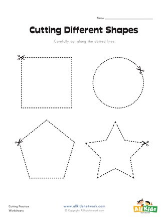 Printable Cutting Worksheets for Preschoolers Cutting Shapes Worksheet