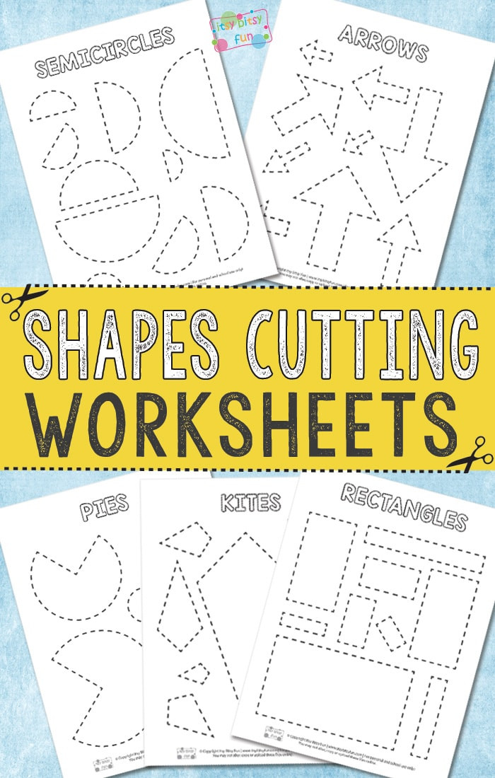 Printable Cutting Worksheets for Preschoolers Cutting Shapes Worksheets Itsybitsyfun