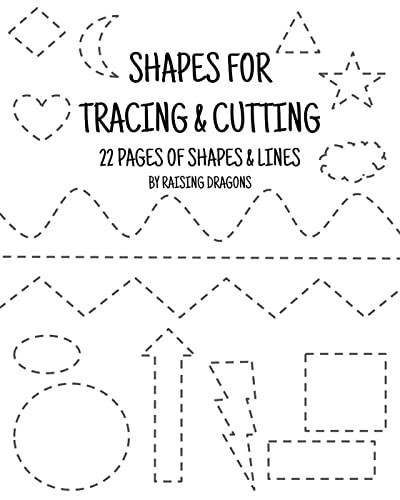 Printable Cutting Worksheets for Preschoolers Shapes Tracing and Cutting Activity Printable Scissor Skills