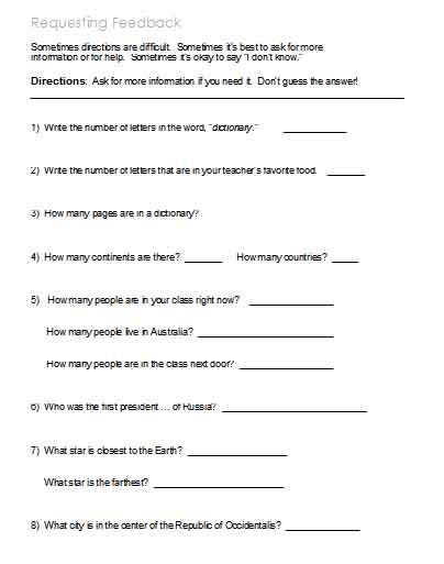 Printable Following Directions Worksheet Following Directions – Worksheets Activities Goals and
