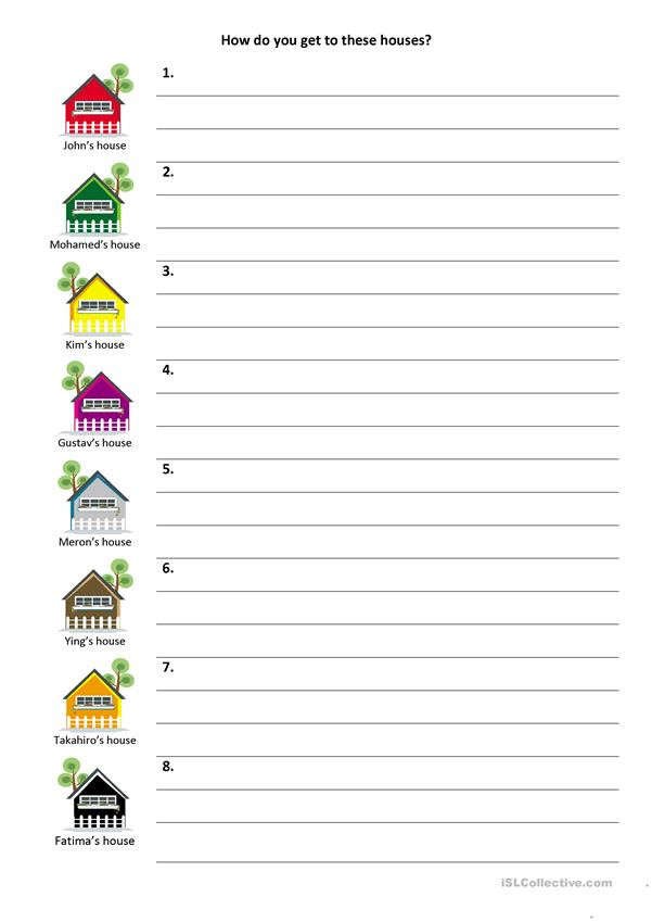 Printable Following Directions Worksheets Give and Follow Directions On A Map English Esl Worksheets