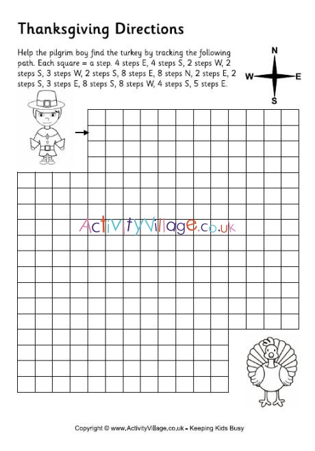 Printable Following Directions Worksheets Thanksgiving Directions Worksheet