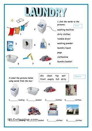 Printable Life Skills Worksheets Laundry