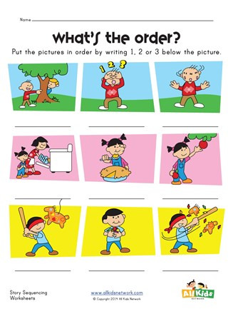 Printable Sequence Worksheets Story Sequence Worksheet