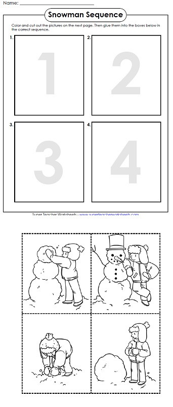 Printable Sequencing Worksheets A Printable Worksheet for Winter