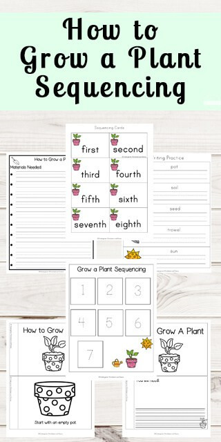 Printable Sequencing Worksheets Grow A Plant Sequencing Worksheets