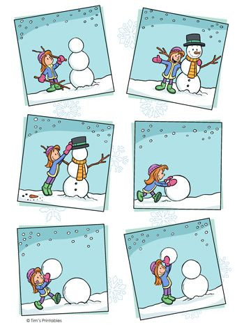 Printable Sequencing Worksheets Snowman Sequencing Worksheet In 2020