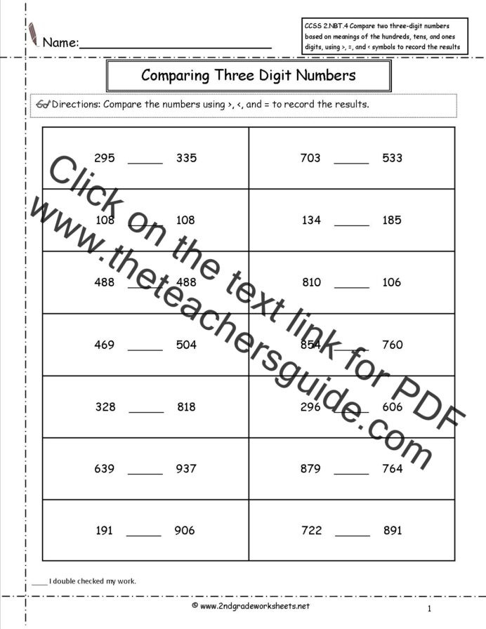 Probability Worksheet 5th Grade 2nd Grade Math Mon Core State Standards Worksheets Free