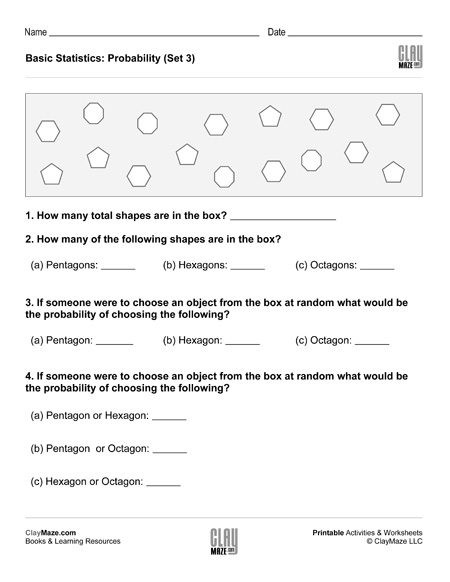 Probability Worksheet 5th Grade Fifth Grade – Page 4 – Childrens Educational Workbooks