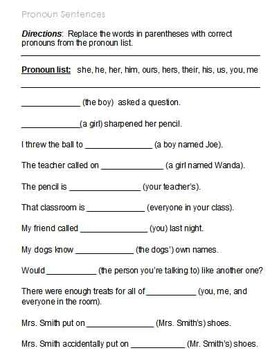 Pronoun Worksheets 6th Grade Free Possessive Pronoun Worksheets