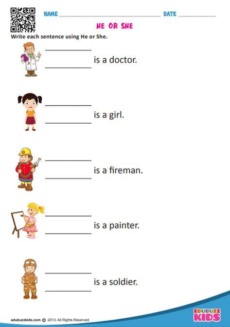 Pronoun Worksheets for Kindergarten Free English Pronouns Worksheets for the Kids Of Kindergarten