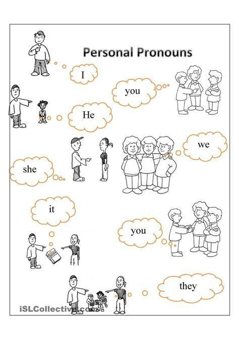 Pronoun Worksheets for Kindergarten Free Year 3