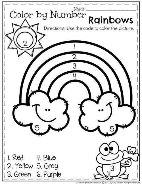 Rainbow Worksheets for Kindergarten March Preschool Worksheets มีรูปภาพ