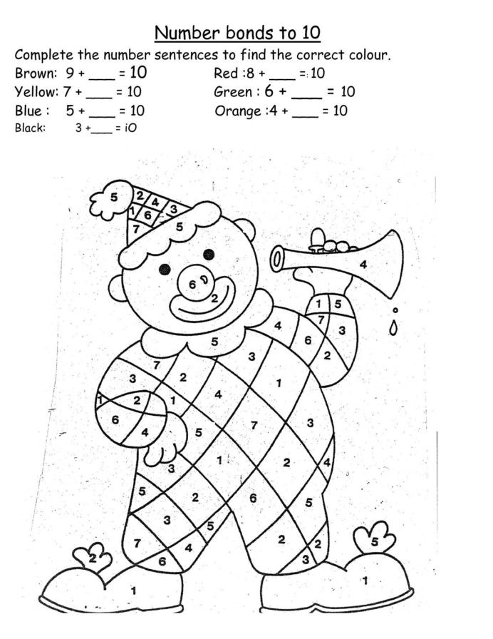 Rainbow Worksheets for Kindergarten Number Bonds Rainbow Worksheet Inspirationa Kindergarten